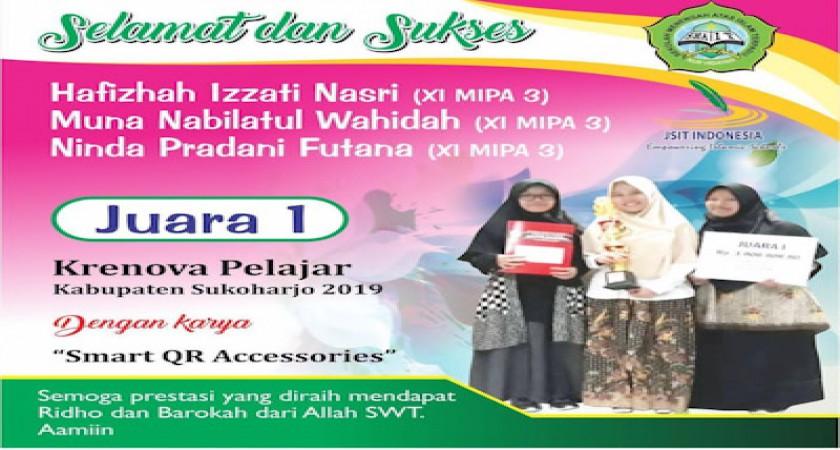 SMA IT Nur Hidayah Juara 1 Lomba Krenova Pelajar Tingkat Kabupaten
