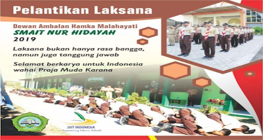Pelantikan Pramuka Laksana SMAIT Nur Hidayah