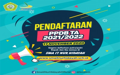 PENGUMUMAN PPDB SMAIT NUR HIDAYAH TAHUN 2021/2022